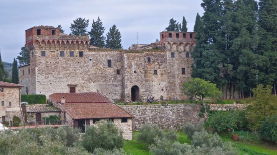 Private Tuscan Castle and Ancient Cellars Visit with Cooking Class and Wine Tasting Experience near Florence